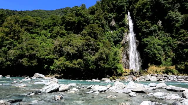 Waterfalls in Nature, North Island, New Zealand