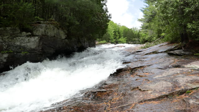 waterfalls in summer in quebec, canada - dramatic landscape stock videos & royalty-free footage
