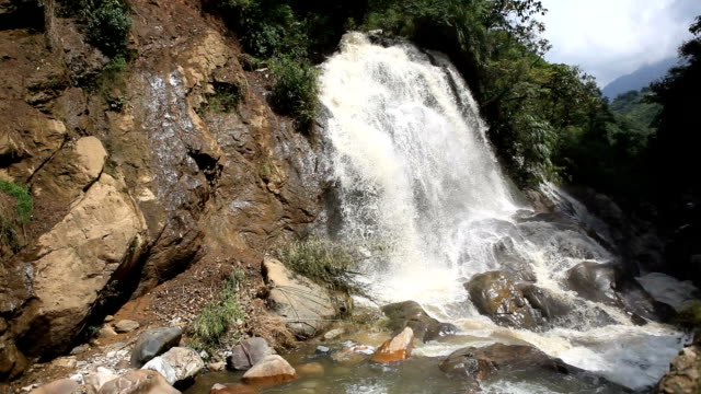 waterfalls in the forests of sa pa, vietnam - sa pa stock videos and b-roll footage