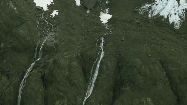 Waterfalls Of Glacial Meltwater In Alaska