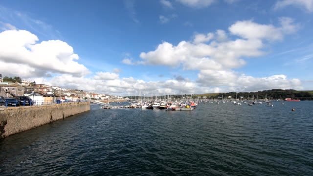 waterfront - falmouth, england - digital enhancement stock videos & royalty-free footage
