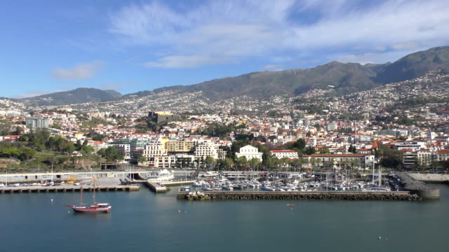 waterfront - funchal, madeira - madeira stock videos and b-roll footage