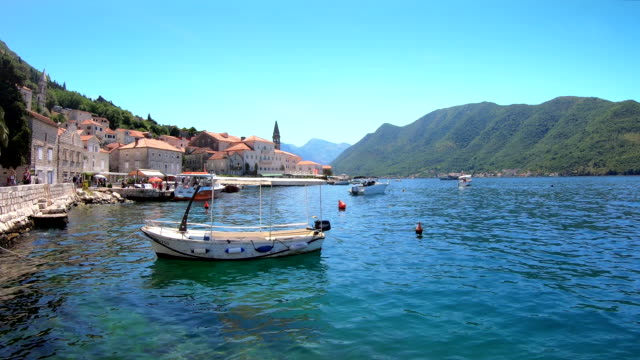 waterfront - perast, montenegro - perast stock videos and b-roll footage