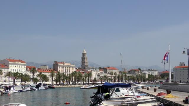 vídeos y material grabado en eventos de stock de frente al mar - split, croacia - región de dalmacia croacia