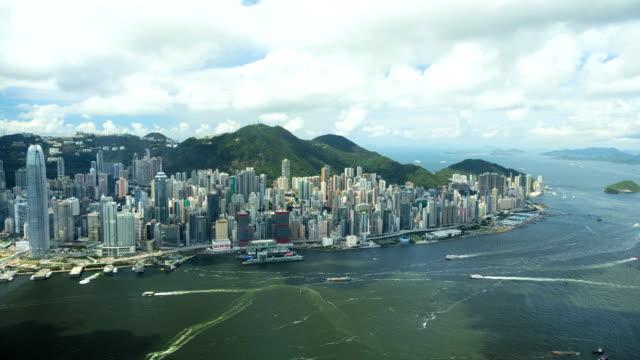waterfront victoria peak victoria harbor hong kong china - china east asia stock videos & royalty-free footage