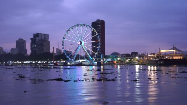 waterfront view of guayaquil - ecuador stock videos & royalty-free footage