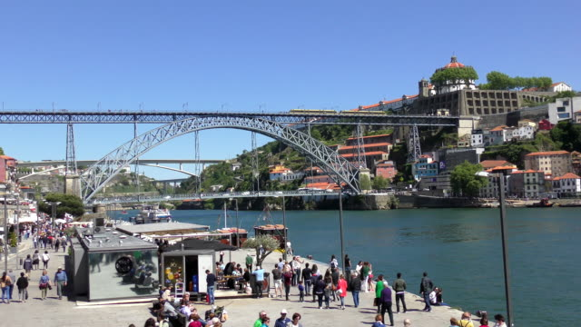 waterfront-porto, portugal - porto district portugal stock videos & royalty-free footage