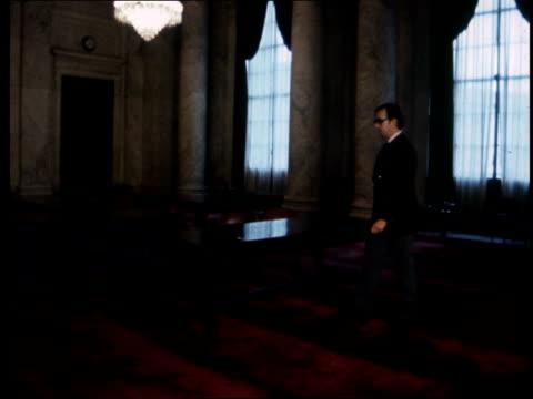 """vídeos y material grabado en eventos de stock de senate hearings:; usa: washington: capitol building, room 312 : int lms brunson in room: sof: """"this is where it all... - edificio del capitolio washington dc"""