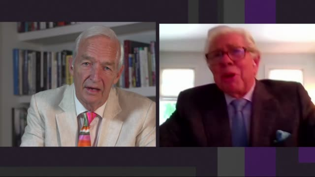 watergate reporter claims donald trump was 'abusive' to female leaders; england: london: int carl bernstein live 2-way interview from new york sot - jon snow journalist stock-videos und b-roll-filmmaterial