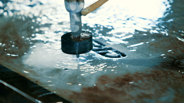 waterjet metal cutter - stencil stock videos & royalty-free footage