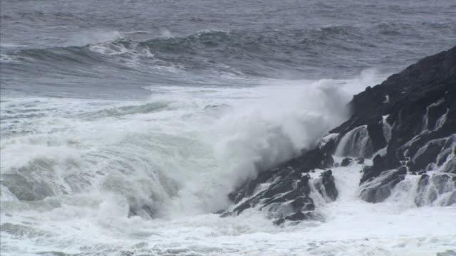vídeos y material grabado en eventos de stock de water-level rocks at right - artbeats