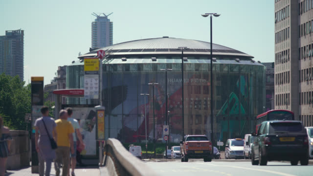 ms waterloo bridge and imax cinema in london - mid distance stock videos and b-roll footage