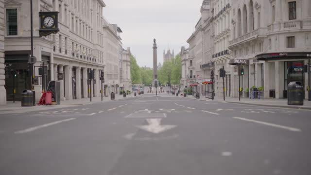waterloo place - empty london in lockdown during coronavirus pandemic - london england stock videos & royalty-free footage