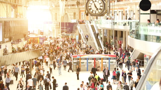 waterloo station in london, time lapse - underground station stock videos & royalty-free footage