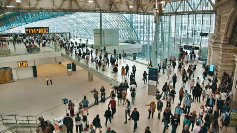 waterloo train station. london - museum stock videos & royalty-free footage