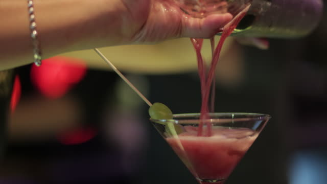 watermelon martini - nightlife stock videos & royalty-free footage
