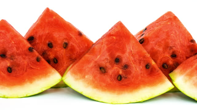 Wassermelone auf Weiß