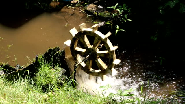 watermill - water wheel stock videos and b-roll footage