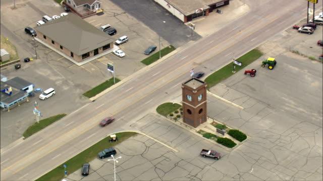 watertown - aerial view - south dakota, codington county, united states - south dakota stock videos & royalty-free footage