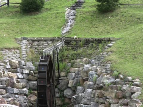 waterwheel 1 pal - water wheel stock videos and b-roll footage