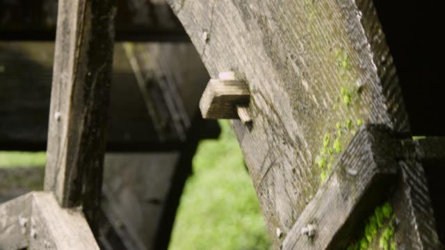 waterwheel turning, japan. - watermill stock videos & royalty-free footage