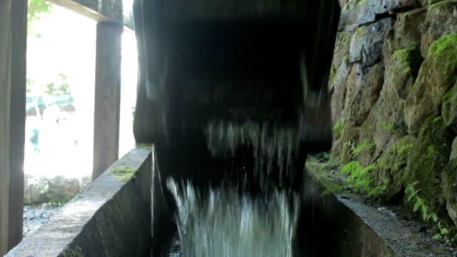 waterwheel wood - watermill stock videos & royalty-free footage