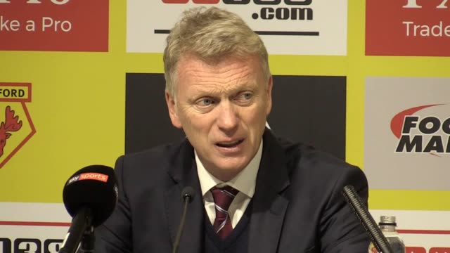 Postmatch press conference with David Moyes who feels that West Ham players let themselves down