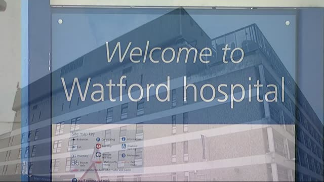 watford and stevenage hospitals close their ae departments due to being too busy lib hertfordshire watford general hospital entrance to hospital sign... - stevenage stock videos and b-roll footage