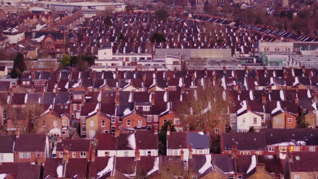 Watford, England in Winter from Above