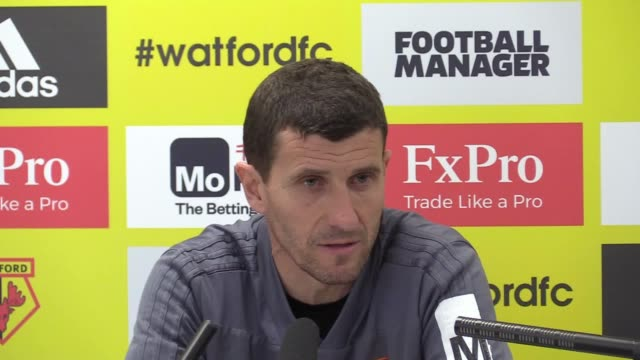 Watford manager Javi Gracia holds a press conference ahead of Saturday's match against Manchester City