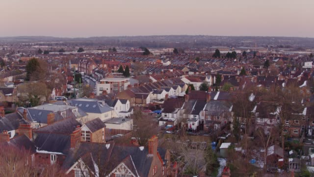 watford roofscape - suburban stock videos & royalty-free footage