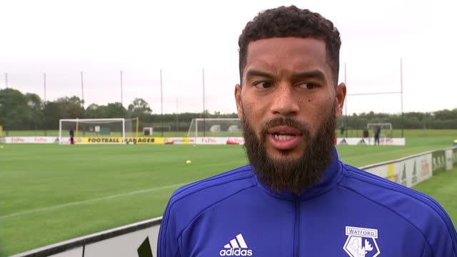 Watford set to perform well in Premier League UK Watford Watford FC football team training / Adrian Mariappa interview / Peter Taylor interview...