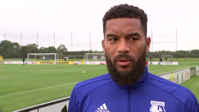 Watford training session / Adrian Mariappa interview ENGLAND Hertfordshire London Colney EXT Adrian Mariappa interview SOT