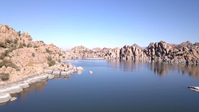 watson lake in prescott arizona's granite dells - prescott arizona stock videos & royalty-free footage