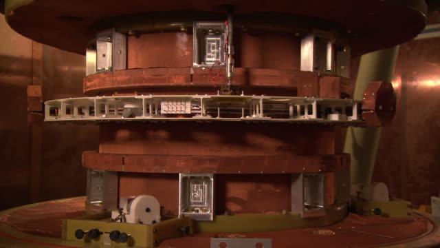 Watt balance machine, inner workings, at the National Institute of Standards and Technology, Gaithersburg, USA
