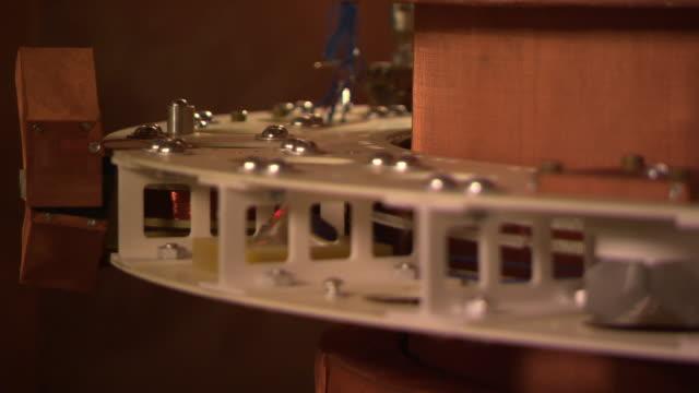 Watt balance machine, inner workings close up, at the National Institute of Standards and Technology, Gaithersburg, USA