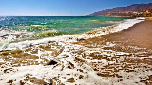 wave and landscape - malibu stock videos and b-roll footage