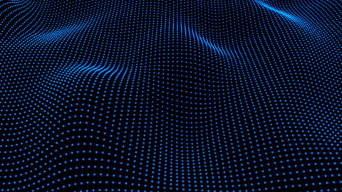 wave and particle motion background,blue color - spotted stock videos & royalty-free footage