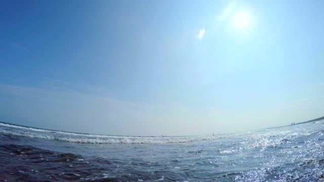 vídeos de stock, filmes e b-roll de onda e luz do sol - plusphoto