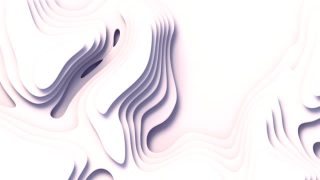 wave bends white abstract background surface. 3d rendering digital loop animation. 4k, ultra hd resolution - bending stock videos & royalty-free footage