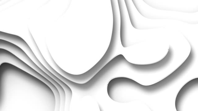 wave bends white abstract background surface. 3d rendering digital loop animation. hd resolution - digital animation stock videos & royalty-free footage