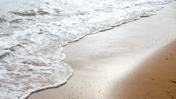 Wave Breaking on Sand Beach