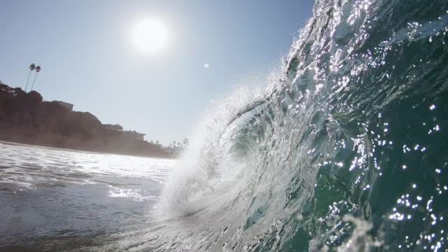 wave breaking - digital camcorder stock videos & royalty-free footage