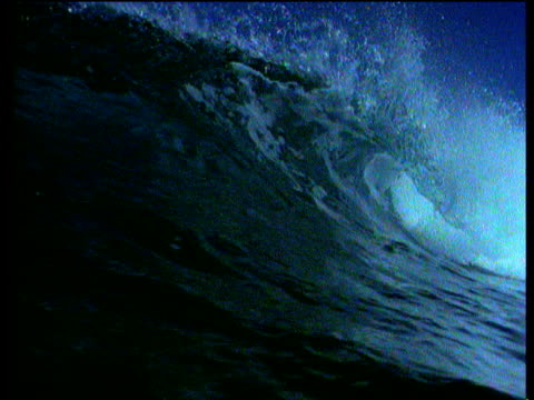 wave curls and breaks over camera, mexico - gulf of mexico stock videos and b-roll footage
