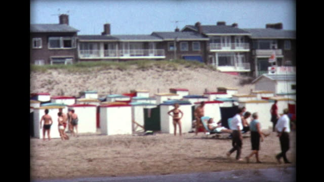 1967 wave diving and beach cabanas in Amsterdam