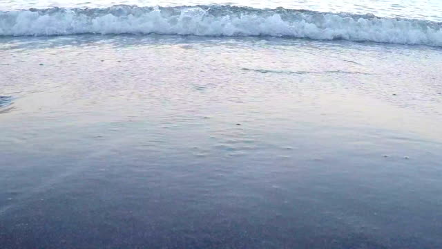 wave from the sea on the beach - water's edge stock videos & royalty-free footage