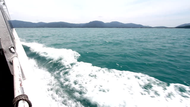 wave in the sea - wake water stock videos and b-roll footage