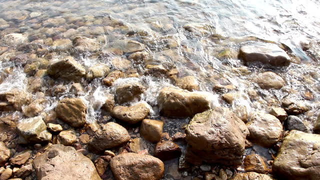 wave on rock