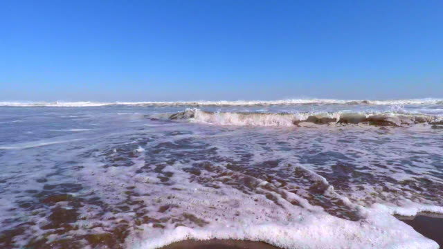 wave on the beach -4k- - satoyama scenery stock videos and b-roll footage