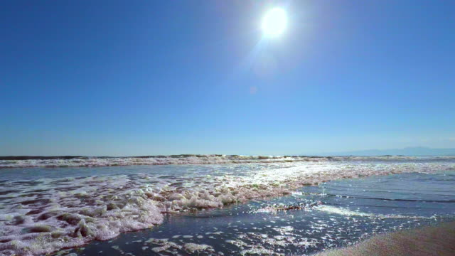 wave on the beach -4k- - plusphoto stock videos & royalty-free footage